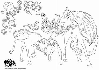 Mia Coloring Pages Onchao Unicorn Lyria Unicorns
