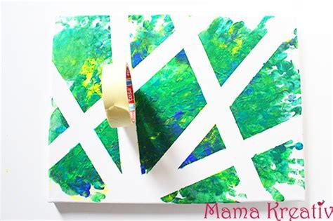 leinwand mit kindern gestalten 4 ideen zum malen mit kindern auf leinwand kreativ