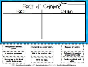 fact and opinion comprehension fact opinion opinion writing reading facts