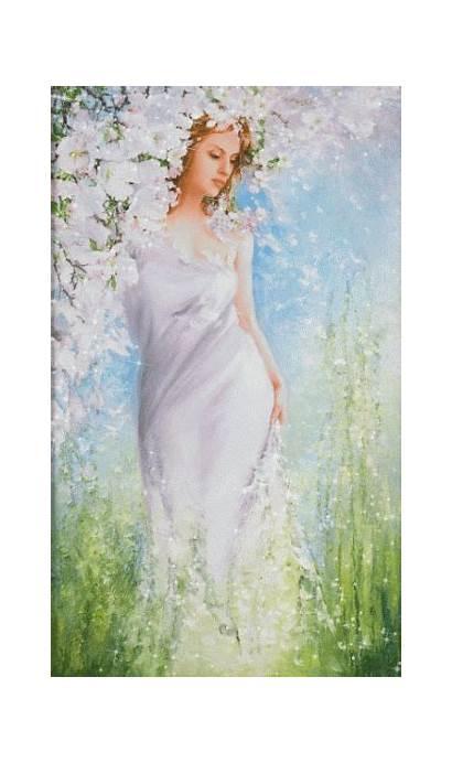 Feminine Divine Woman Gifs Step Amazing Painting