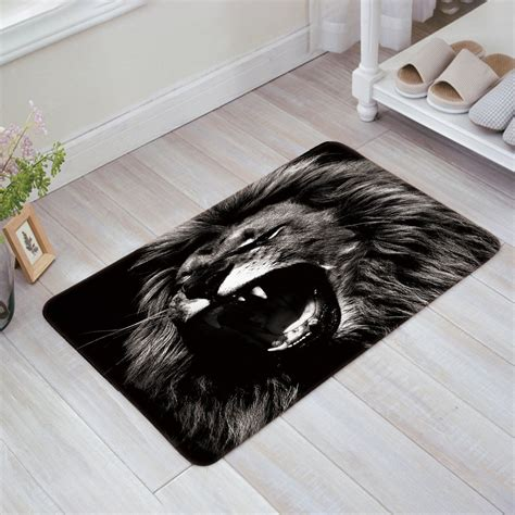 Unique Outdoor Doormats by Unique Design Roaring Black Doormat Entrance Mat