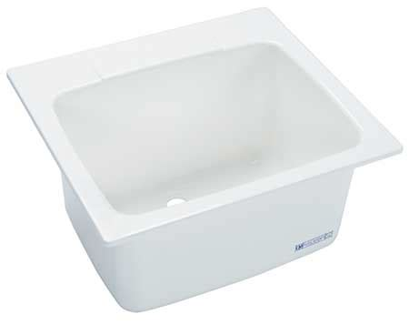 mustee utility sink fiberglass drop in white 10 zoro com