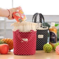 red thermal insulated lunch box cooler bag tote bento