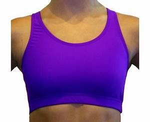Bright Neon Purple Spandex Athletic Sports Bra Tops