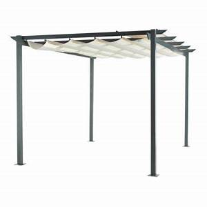 Pergola Toit Coulissant : tonnelle clipperton toit ajustable castorama ~ Melissatoandfro.com Idées de Décoration