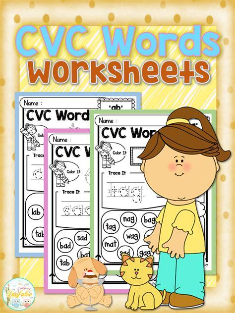 cvc words worksheets  images cvc words worksheets