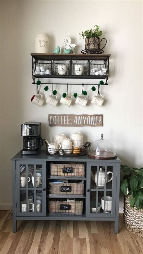 Coffee anyone antique washstand revived to provide a great cup of java coffeebar coffee coffee coffee bar home refurbished furniture coffee bars in kitchen. 30+ Best Home Coffee Bar Ideas for All Coffee Lovers