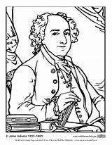 Adams John Coloring Colorear Dibujo Colorare Disegno Malvorlage Presidentes Usa Imprimir President Dibujos Popular Presidents sketch template