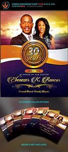 Church Anniversary Flyer Template Auction Flyer