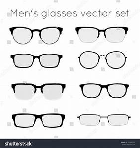 Vector Set Different Glasses On White Stock Vector ...