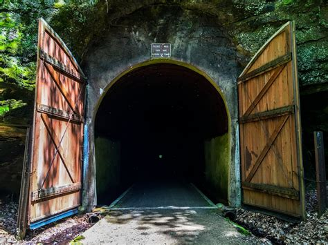 sparta elroy trail bike tunnel wisconsin tunnels wi hidden state doors natural onlyinyourstate attractions die