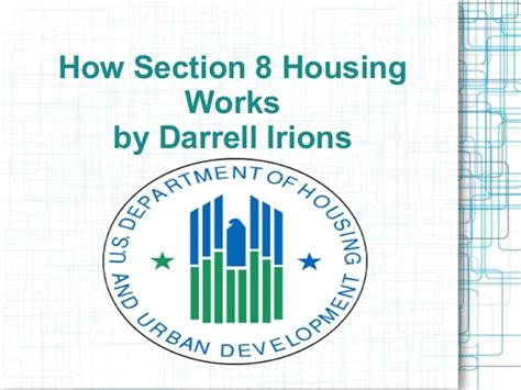how does section 8 work how section 8 housing works by darrell irions