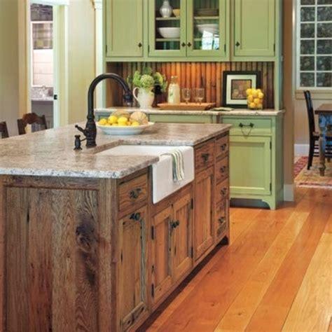 cuisine originale en bois la cuisine avec îlot central idées de décoration et