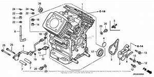 Honda Engines Gx670r Vxeu Engine  Jpn  Vin  Gcask