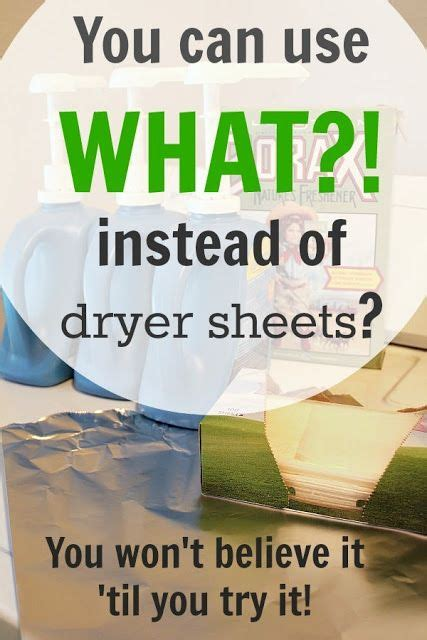 you can use what instead of dryer sheets washers toss