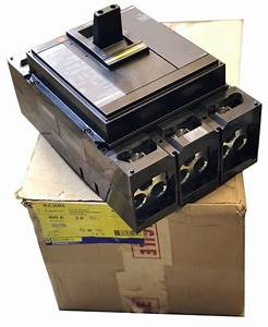 Square D Mjl36400 3 Pole 400 Amp 600 Vac Powerpact Breaker