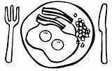 Breakfast Coloring Pages Printable Bacon Worksheet Healthy Template Getcolorings Meal Clip Printablee sketch template