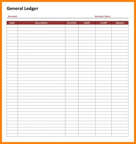 sample ledger page ledger review