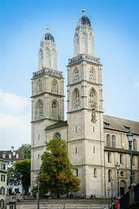 Grossmunster Church Zurich In Switzerland Stock Photo ...
