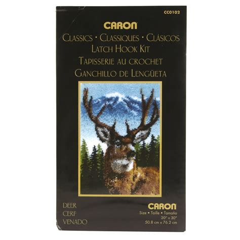 wonderart classic latch hook kit deer