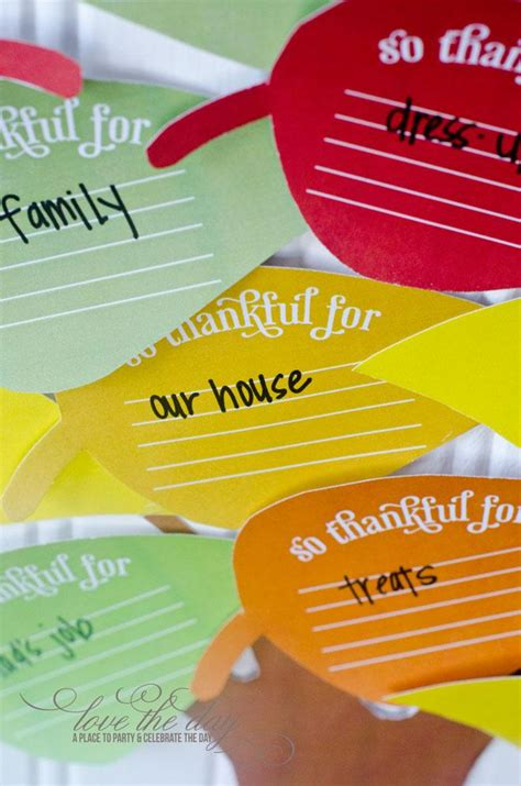 thanksgiving tree printable  love  day