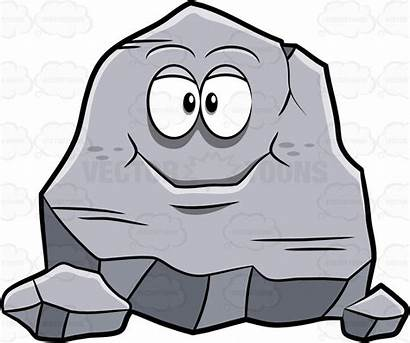 Rock Clipart Cartoon Stone Rocks Solid Igneous