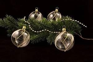Weihnachtskugeln Aus Lauscha : weihnachtskugeln klar transparent mit goldenem ~ Orissabook.com Haus und Dekorationen