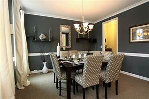 salle a manger grise la teinte passe partout With kitchen colors with white cabinets with feng shui dining room wall art
