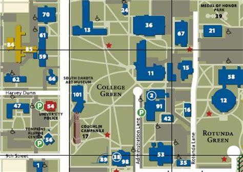 campus map south dakota state university