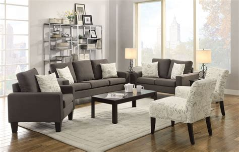 bachman grey living room set  coaster