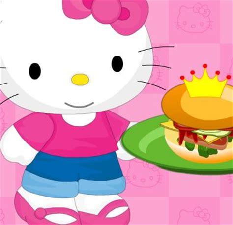 jeu hello kity cuisine des hamburgers
