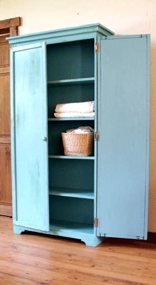 DIY Armoire. Going to modify this and build it as a linen