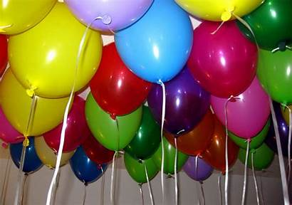 Balloons Birthday Balloon Party Happy Colorful Cake