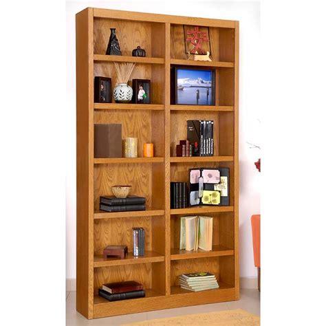 Oak Finish Bookcase by Grundy 84 Quot High Oak Finish Wide 12 Shelf Bookcase