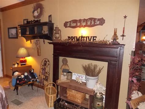 primitive living rooms manufactured home decorating ideas primitive country style