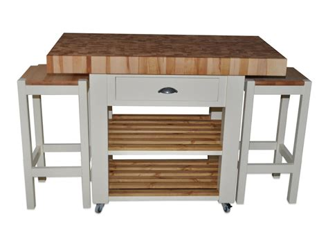 Kitchen Island With Wheels And Stools by Butchers Block Kitchen Island With Overhang
