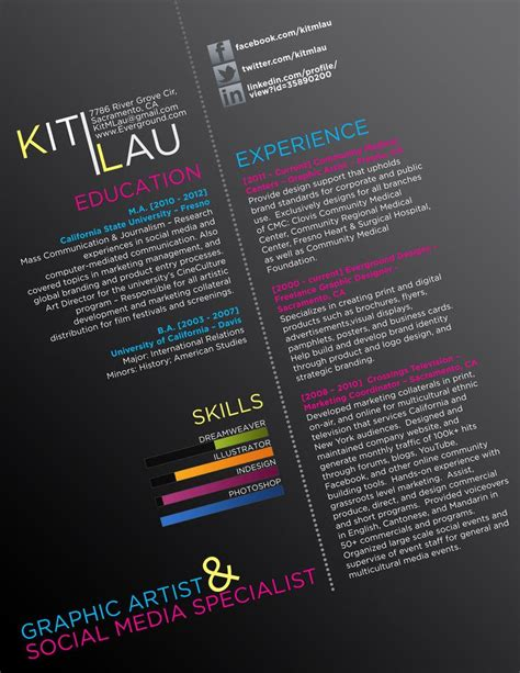 graphic resume creative cv by ison typography my