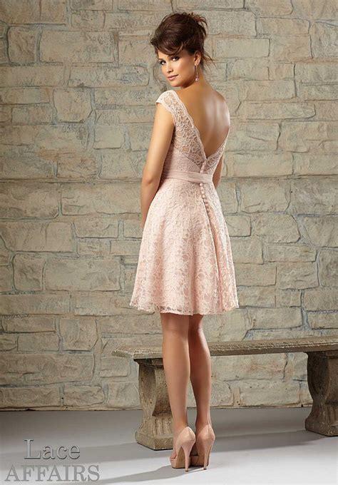 Mori Futura - morilee bridesmaids 725 cap sleeve lace dress in