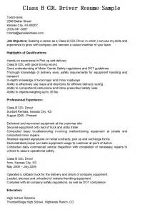 cab driver resume objective driver resumes class b cdl driver resume sle