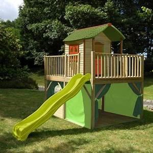 Cabane Enfant Occasion : cabane avec toboggan cabane toboggan sur enperdresonlapin ~ Teatrodelosmanantiales.com Idées de Décoration