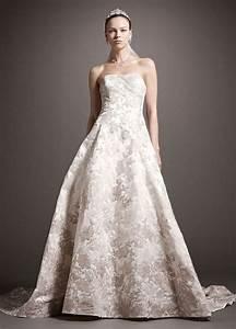oleg cassini satin ball gown wedding dress with ombre With oleg cassini wedding dress