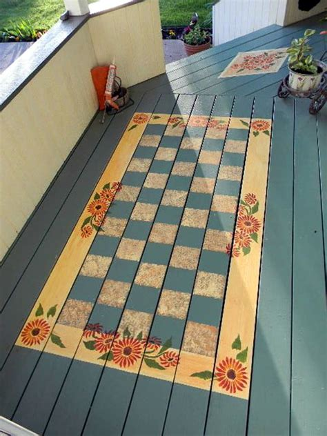 40 creative wood floor paint decoration works
