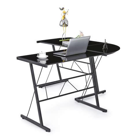 bureau d angle ik饌 bureau d 39 angle en verre trempé noir interougehome
