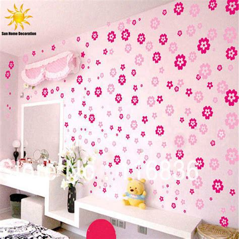 childrens bedroom wall stickers removable aliexpress buy sale 108 flowers 6