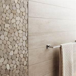 galets sol et mur riviera beige leroy merlin With porte d entrée pvc avec carrelage salle de bain mosaique bleu