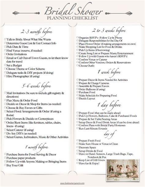 Bridal Shower Preparation by The Bridal Shower Checklist