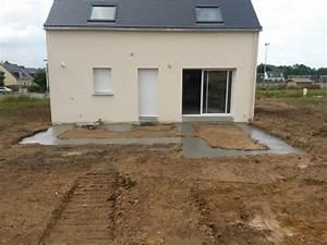 quoi faire sur une dalle de terrasse en beton resolu With comment faire une dalle de beton pour terrasse
