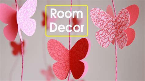 ideas for decorating a bedroom diy butterflies wall room decor paper butterflies