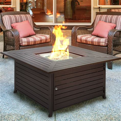 Best Pit by Bcp Extruded Aluminum Gas Outdoor Pit Table With