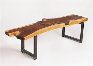 Custom Live Edge Cedar Coffee Table by Russ Connell Metal